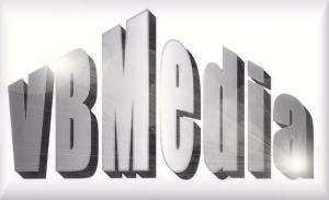 Logo VBMedia, de afkorting van Vlaminckx Beheer Media. VBMedia is het mediabedrijf van Stefan Vlaminckx. Ondernemer, spreker, VN Ambassadeur Rechten van de mens met een handicap