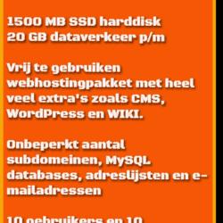 Verkoopkaart HJWH webhostingpakket 1