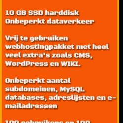 verkoopkaart pakket 3 HJWH webhosting